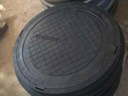 Люк смотровых колодцев полимерпесчаный - фото 2
