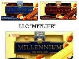 Молочный Шоколад Millennium с орехом Nut LLC Mitlife